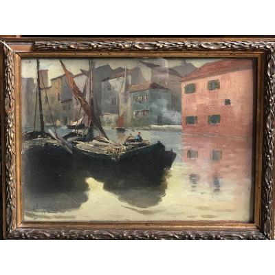 Nikolaus Von Scanavi (1853-1936) Lagune De Murano, 1908