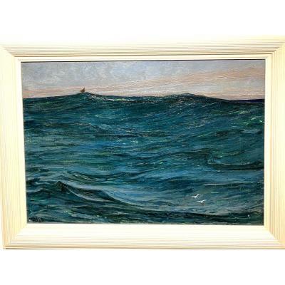 Auguste Matisse (1866-1931) Bréhat - Vagues, Circa 1920
