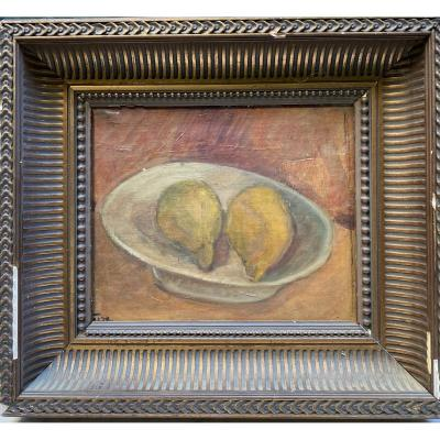 French School From The Beginning Of The 20th Century - Still Life With Lemons - Signature To Identify