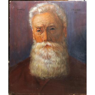 A. MuËs - Portrait d'Homme - Autoportrait ? - Firenze 1905
