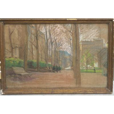 Ecole Française Début 20ème - Jardin Parisien (du Trocadéro) ?