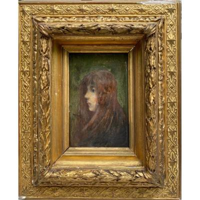 Ernest Robert Noir (1864-1931) - Girl, 1885
