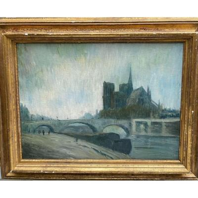 French School Early 20th Century - Notre Dame De Paris