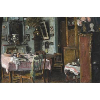 Camille Mauclair (1872-1945) - Interieur Bourgeois, 1917