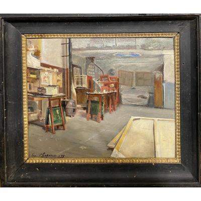 Emile Chaperon (1868 - 1946) - l'Atelier De l'Artiste, 1899