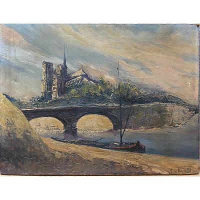 Ecole Française 1925 - Comte De Verdalle - Notre Dame De Paris
