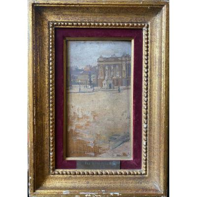 Paul Seguin-bertault (1869-1964) - Paris, La Place De La Concorde, Circa 1890