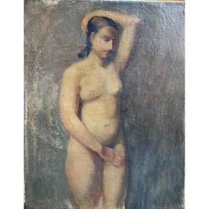 Ecole Française - Nu Féminin Cubiste, Circa 1910-1920