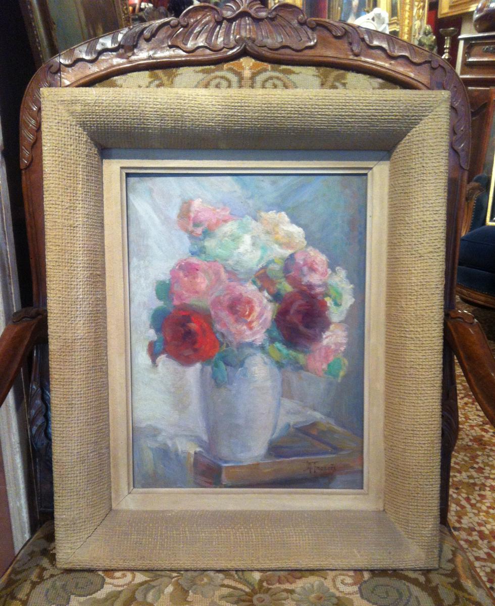 """""""Bouquet de Roses dans un Vase"""" par Mathilde Frances"""