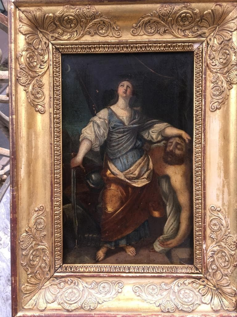 Oil On Copper, Judith And Holofernes