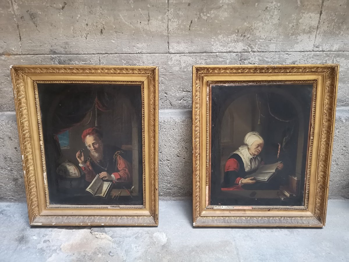 Pair Of Paintings - Oil On Canvas