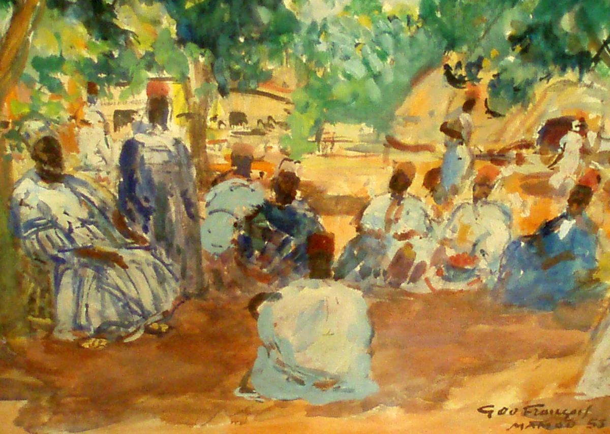 """palabres Du Chef Almany"" By Géo François (1880-1968)"