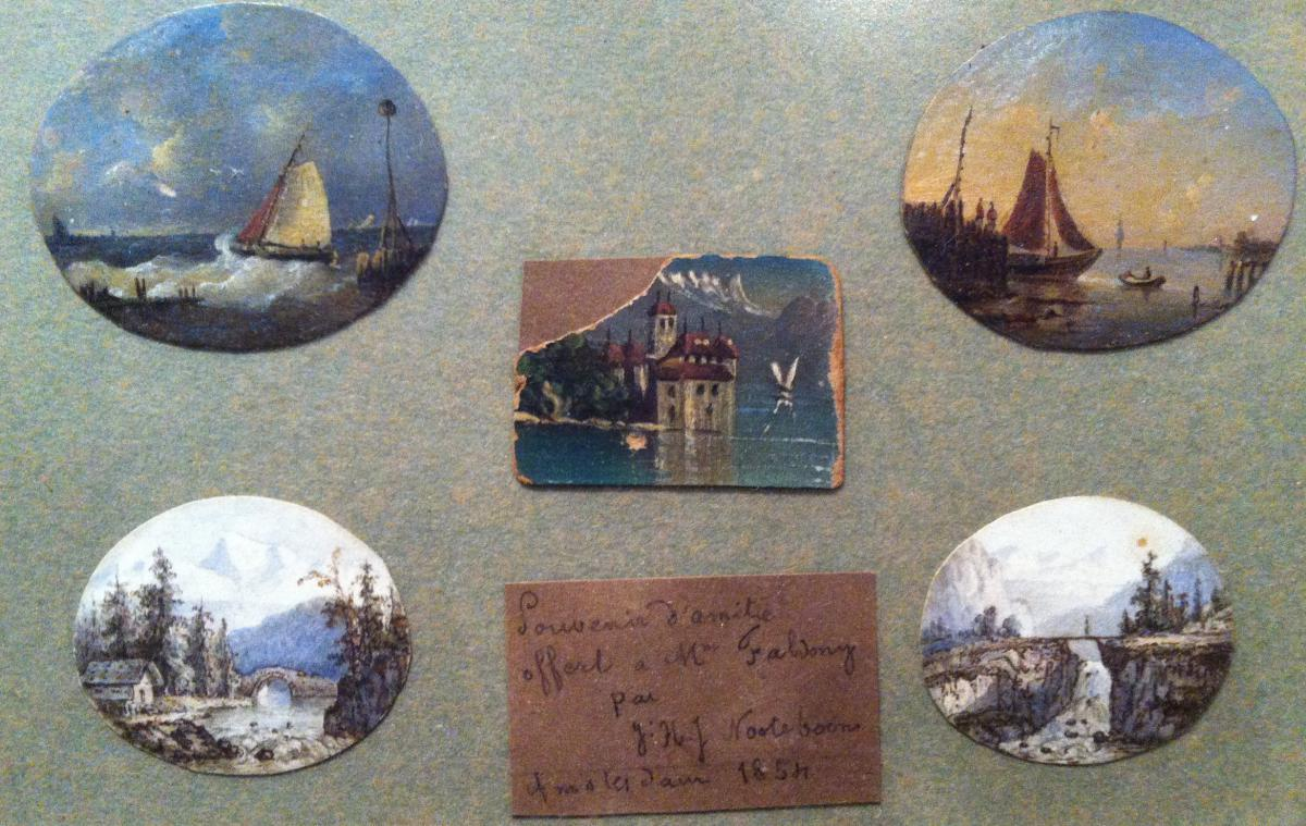 """""""marines And Miniature Landscapes"""" By Hj Jacobus Nooteboom"""