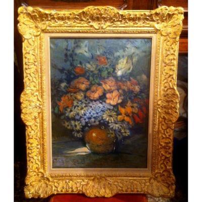 """""""Bouquet de Fleurs """" par Louis Fortuney (1878-1950)"""