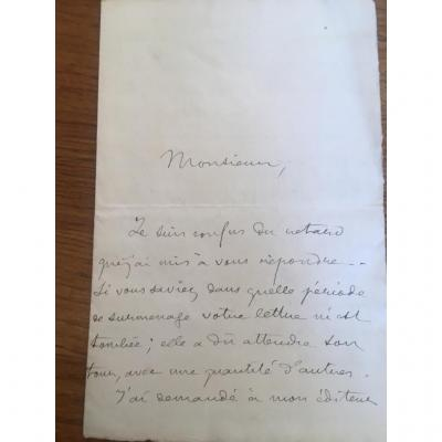 Lettre Manuscrite Pierre Loti