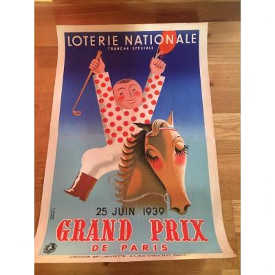 4 Affiches Loterie Nationale Par Derouet Lesacq