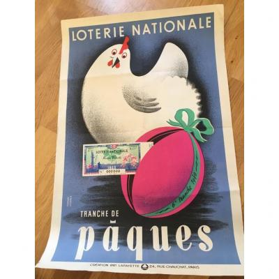 4 National Lottery Poster By Derouet And Lesacq.