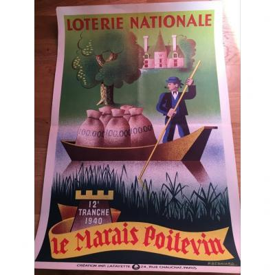 2 National Lottery Poster By Pierre Besniard.