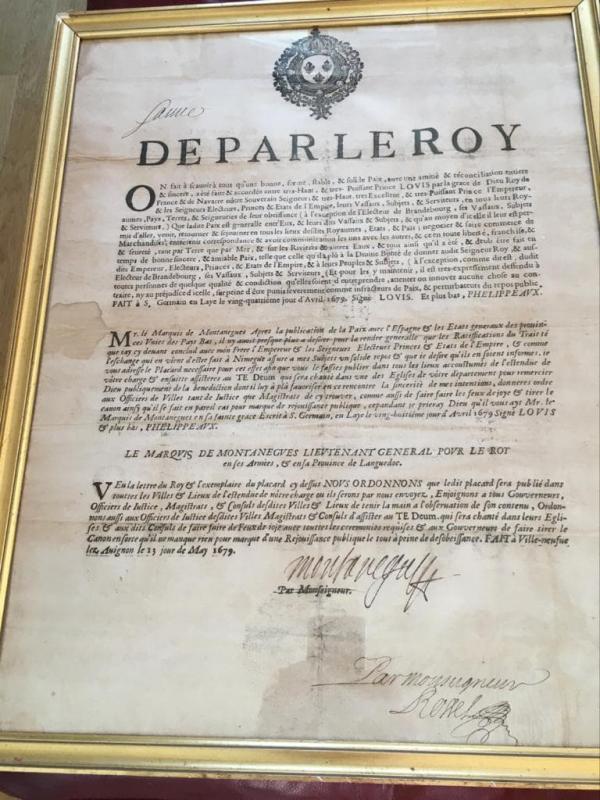 De Par Le Roy Old Document-photo-2