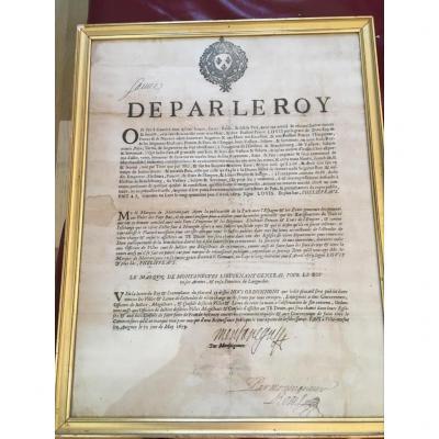De Par Le Roy Old Document