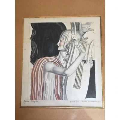Art Deco Engraving By Jean Dupas