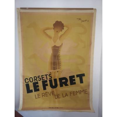 Affiche  Corsets Le Furet par Roger Pérot