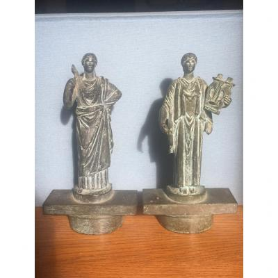 Sylvestre, Two Neoclassical Bronzes