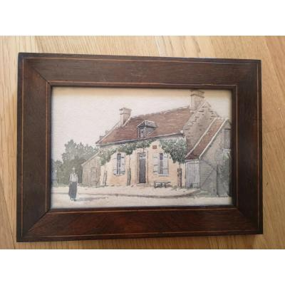 The House - Watercolor Early 20th Century