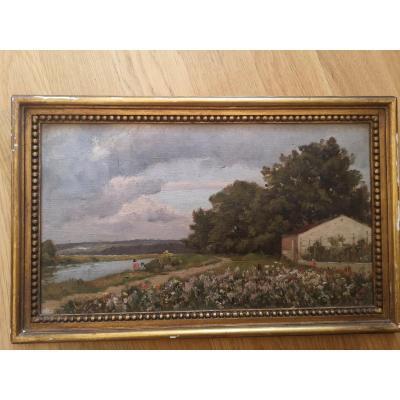 Landscape - Oil On Cardboard
