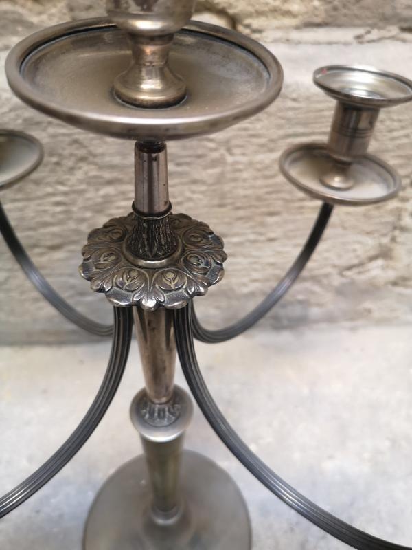 Grand Candélabre En Argent -photo-3