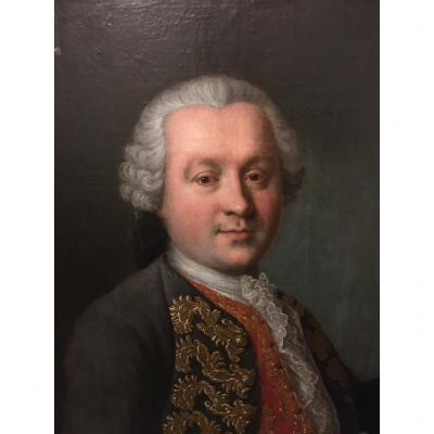 Pair Of Portraits Of Aristocrats
