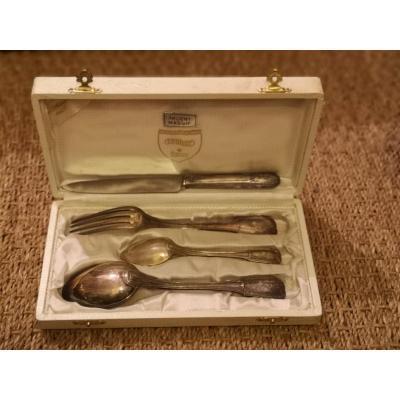 Baptismal Cutlery In Sterling Silver