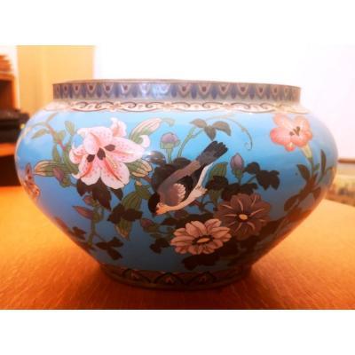 Jardiniére En émail Cloisoné Japon XIXe