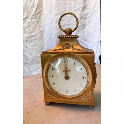 Hour Lavigne Table Clock In Gilt Bronze Nineteenth