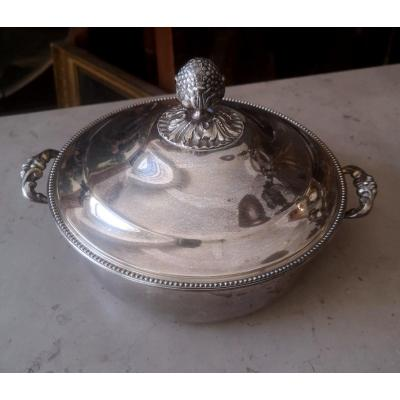 Nineteenth Silver Metal Vegetable Dish