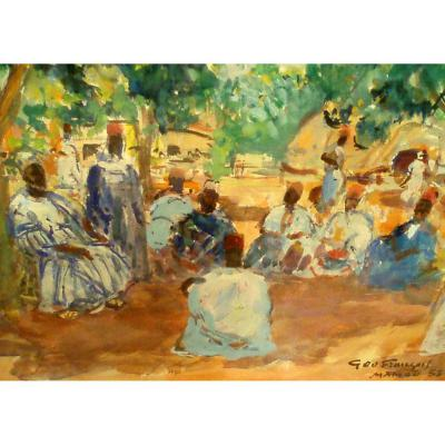 """""""Palabres du Chef Almany"""" par Géo François (1880-1968)"""
