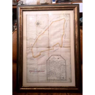 Plan Du Bois De La Perle 1740