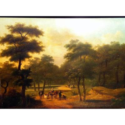 """""""Scène champêtre"""" par Philippe Budelot (1770-1841)"""