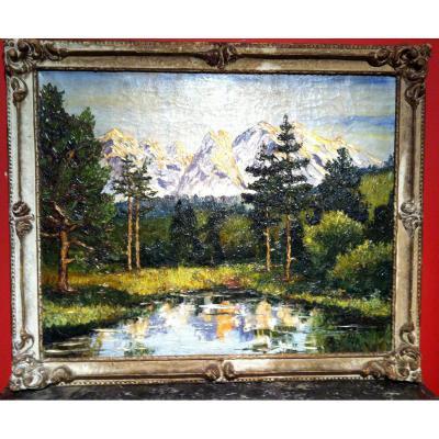 """""""Paysage de lac de montagne"""" Cadre Montparnasse"""