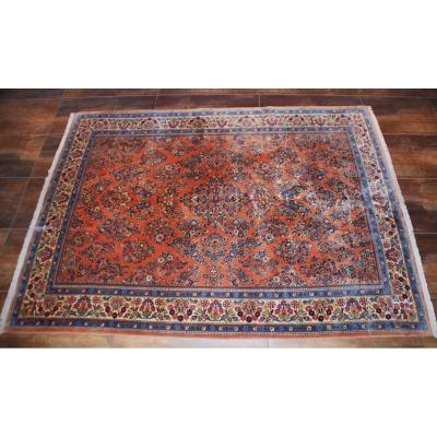 """Antique Carpet """"sarouk"""" 347cmx250cm"""