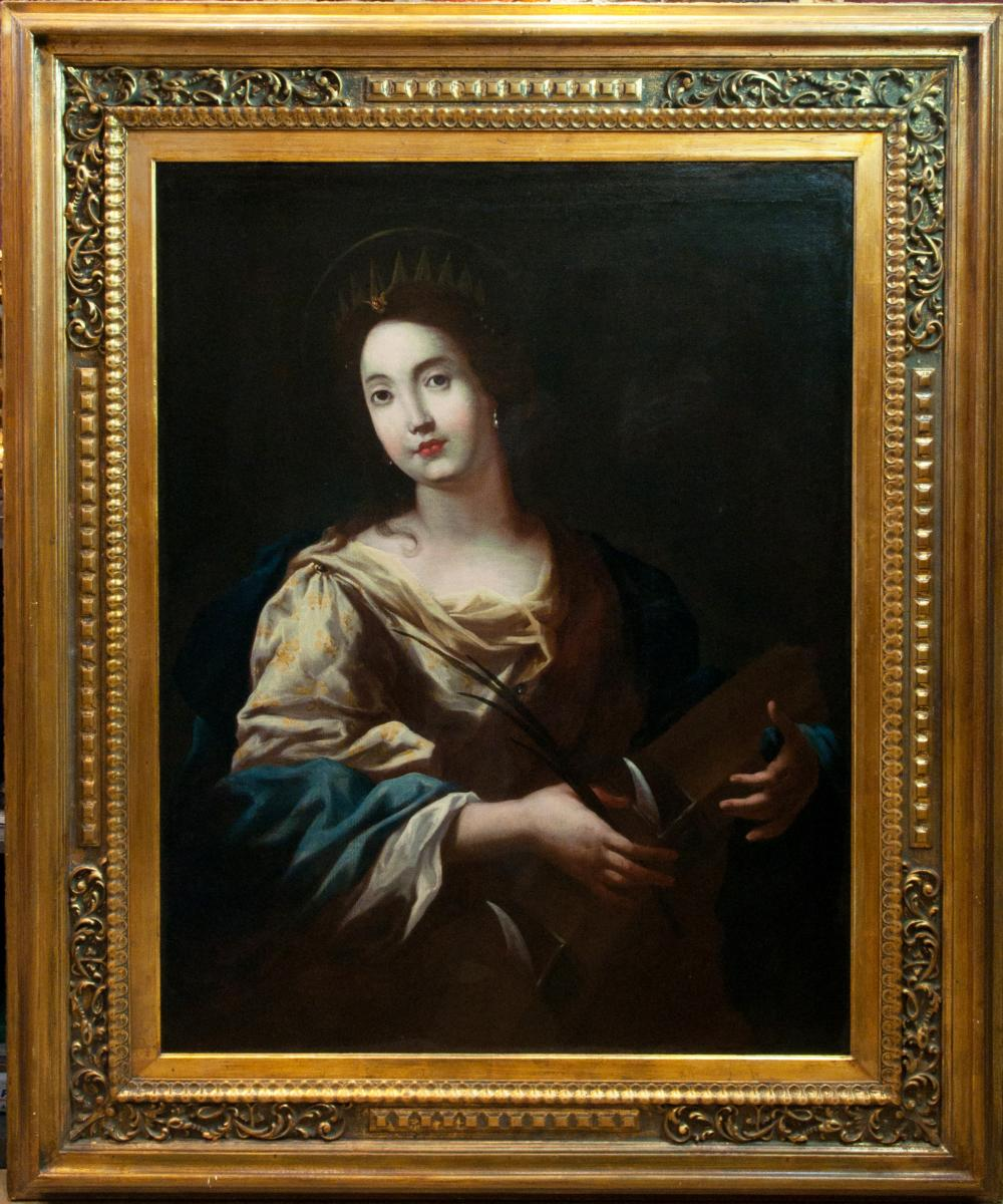 St. Catherine Of Alexandria. Caravaggesque School Of XVIIth Century.
