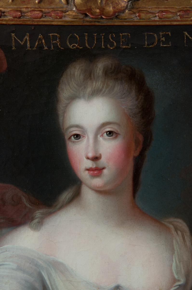 Portrait Of The Marquise De Nesle. By Pierre Gobert (1662-1744) And Workshop