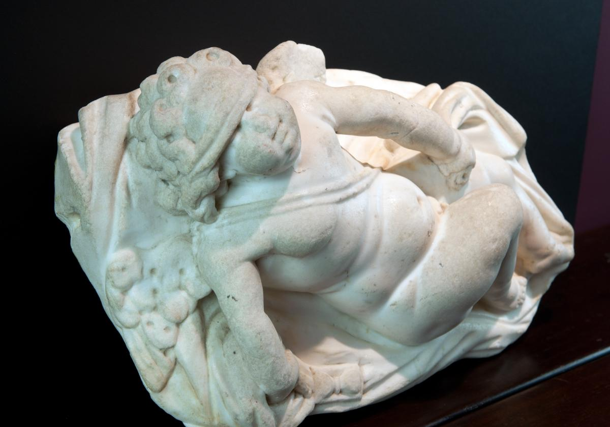Sculpture En Marbre Blanc, Italie XVIIème Siècle. Eros Endormi-photo-3