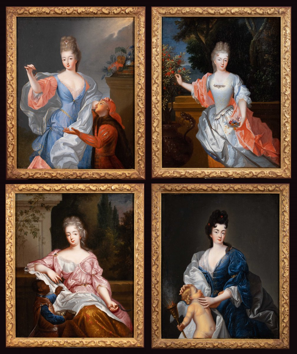 Allégorie Des Quatre Saisons. Atelier De François De Troy (1645-1730)