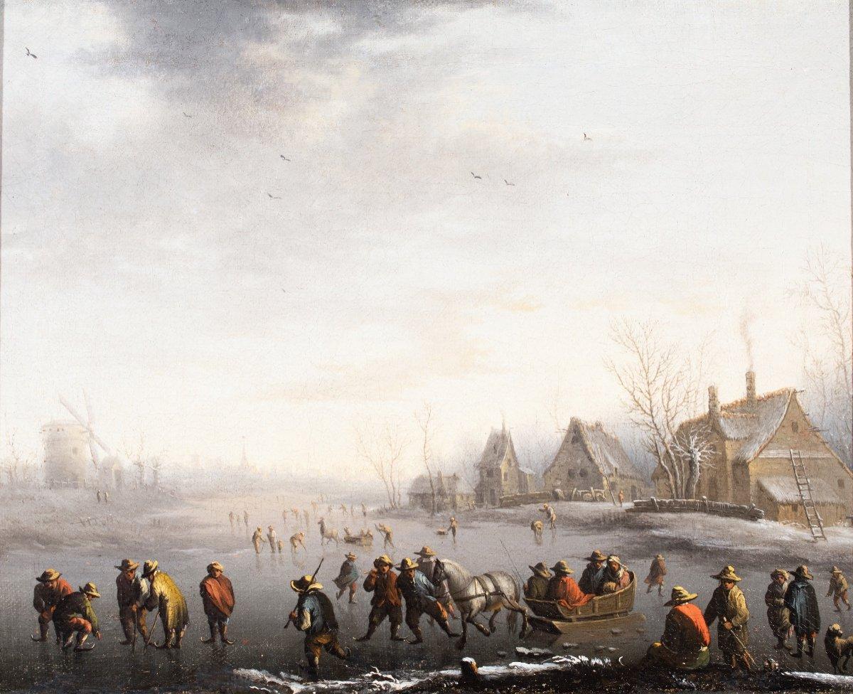 Winter Landscape With Skaters- Anthonie Verstraelen (1594-1641)