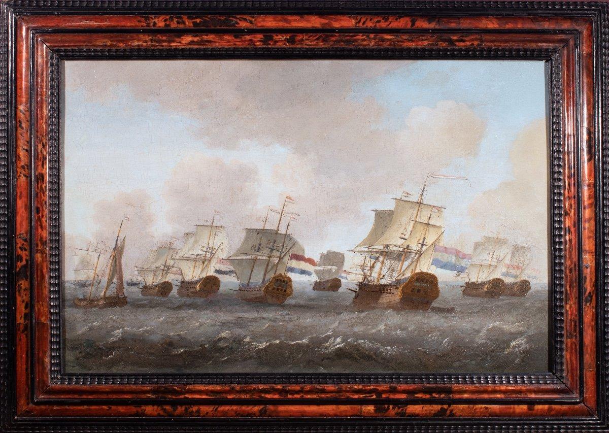 Retour De La Flotte De La Compagnie Des Indes Néerlandaises. École Hollandaise Du XVIIème