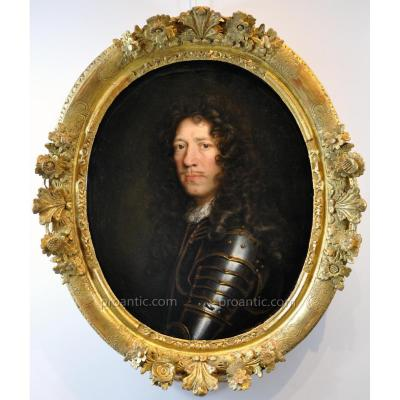 Pierre Mignard (1612-1695), Louis XIV Period (workshop De) Portrait Of A Prince In Armor