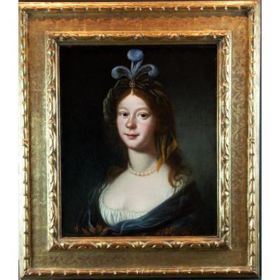 Ecole Hollandaise Du XVIIème Siècle, Jeune Femme En Costume Oriental