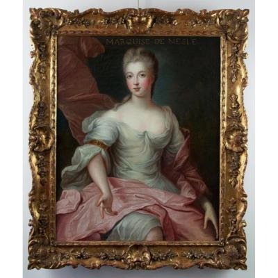 Portrait de la Marquise de Nesle. Par Pierre Gobert (1662-1744) et Atelier