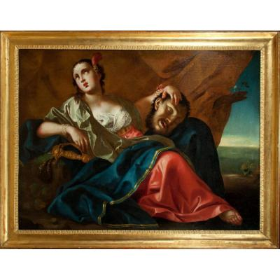 Judith & Holofernes. Italian School Of The End Of The XVIIth Century